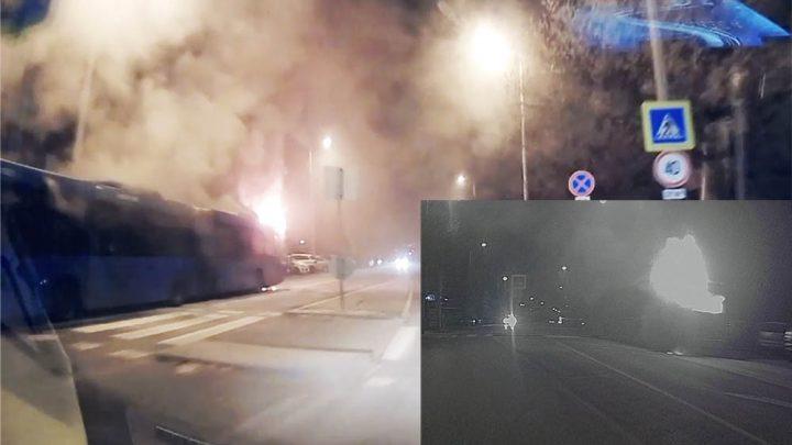 Videón, ahogy lángol az Óbudán reggel kigyulladt buszt