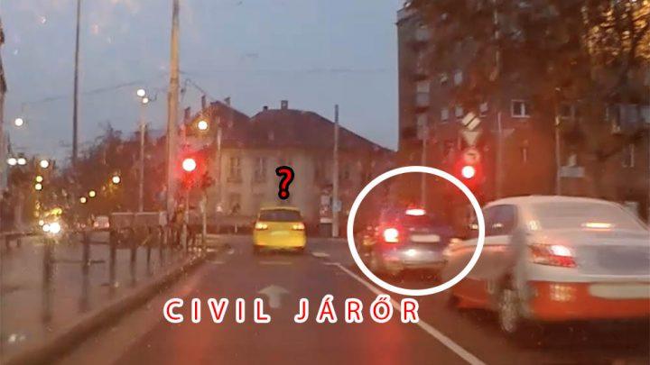 VIDEÓ: A pofátlanító megállt, a taxis átment a piroson. Nem kellett volna…