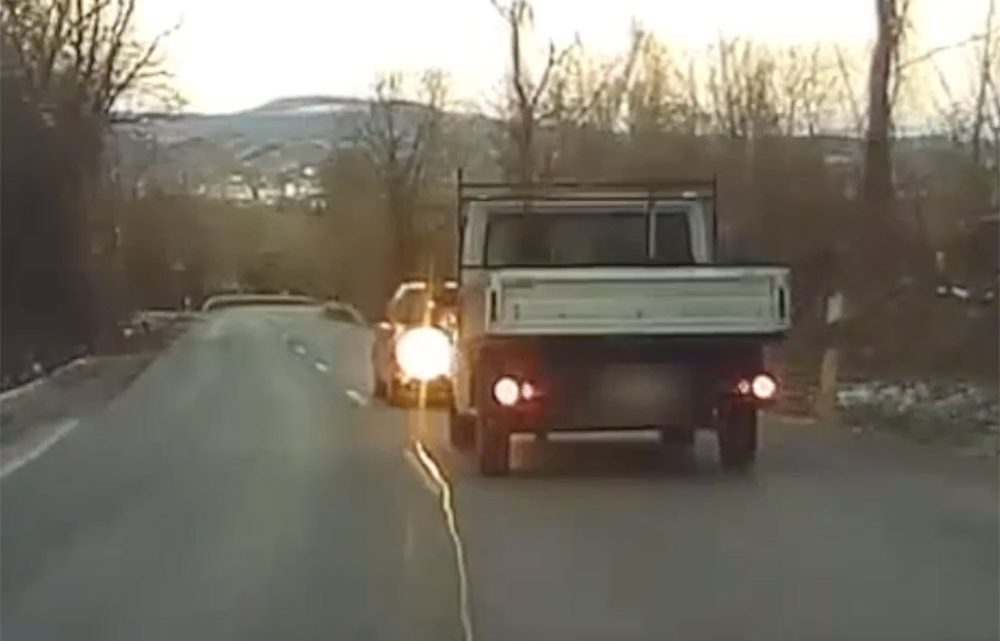 VIDEÓ: Elképesztő jelenetet rögzített egy autós a 1119-es úton pénteken