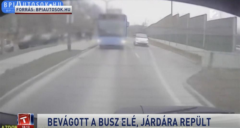 Riport: A sofőr elismerte a felelősségét. A rendőrség szabálysértési bírságot szabott ki