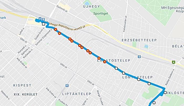 Négy hónapos terelés jön a Derkovits Gyula utca felújítása miatt