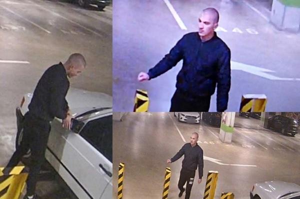 A képen látható férfit keresi a rendőrség – Megrongált egy parkoló autót