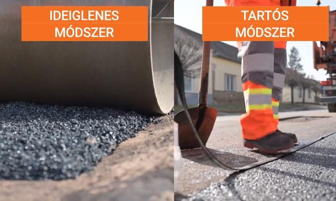 VIDEÓ: Rengeteg az úthiba, de a Magyar Közút szakemberei gőzerővel dolgoznak a hibák kijavításán