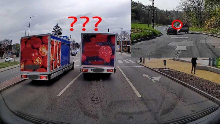 VIDEÓ: Köszönni akart(?!) és a fékbe taposott az áruszállító | Valamint egy hazárdőr suzukis Miskolcon