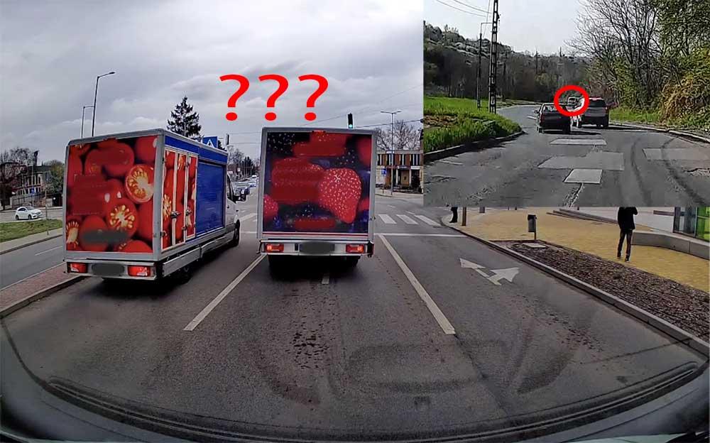 VIDEÓ: Köszönni akart(?!) és a fékbe taposott az áruszállító   Valamint egy hazárdőr suzukis Miskolcon