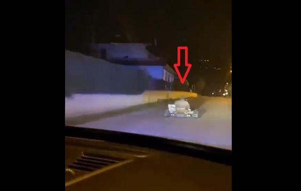 VIDEÓ: Csaknem egy órán át menekült gokarttal egy férfi a rendőrök elől