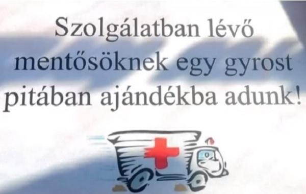 VIDEÓ: Feljelentés helyett ők inkább segítenek- Ingyen étellel várja több büfés is a mentősöket