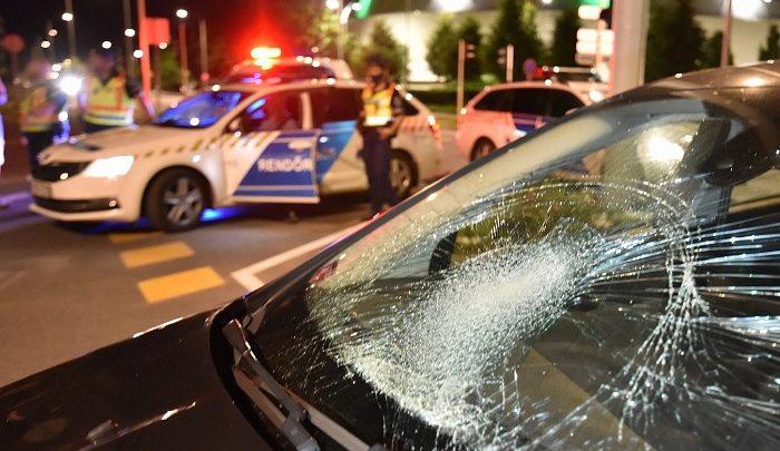 FOTÓK: Ittas volt a kerékpáros, aki egy autóssal ütközött Szombathelyen