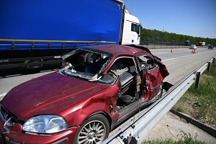 Súlyos baleset történt az M0-son Ecser magasságában