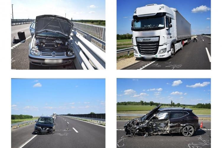 FOTÓK: Forgalommal szemben haladó autós okozott balesetet a M85-ön – Három ember sérült meg