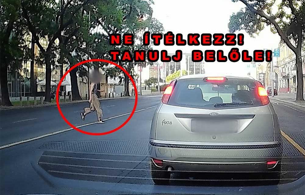 Felvétel készült róla, ahogy elgázolnak egy gyalogost ma reggel, a Váci úton