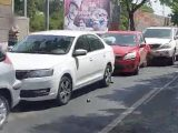 VIDEÓ: 4 autó rohant egymásba a Jászberényi úton befelé