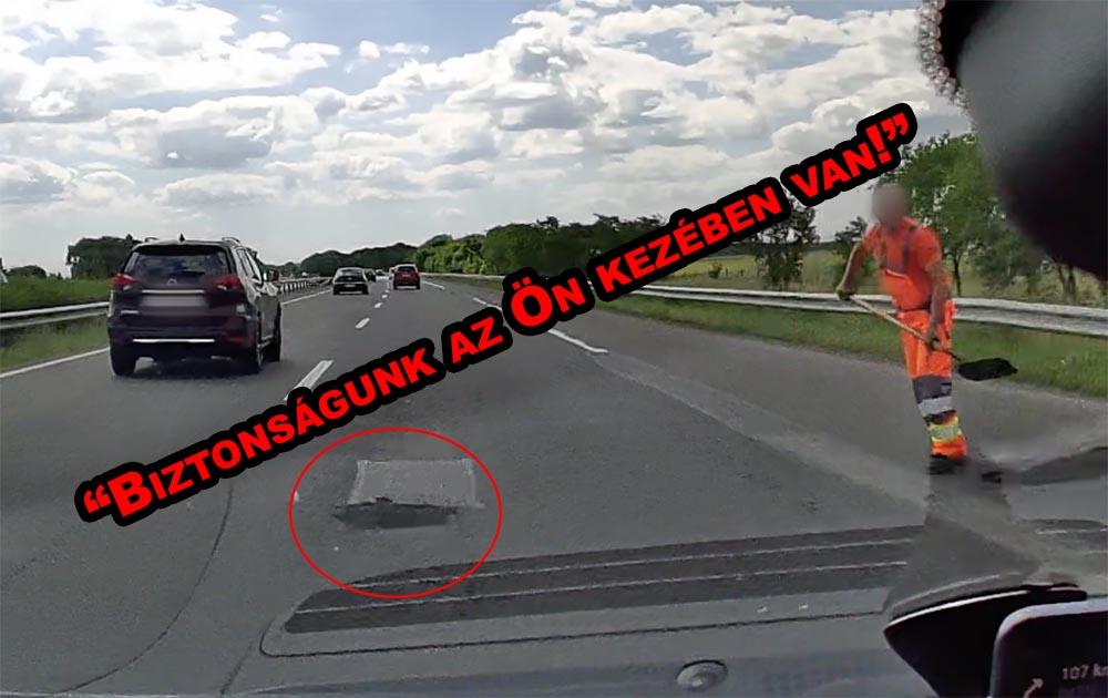 VIDEÓ: Nem elég nekünk vigyázni! A Magyar Közút egyes dolgozói is tehetnének többet a biztonságért