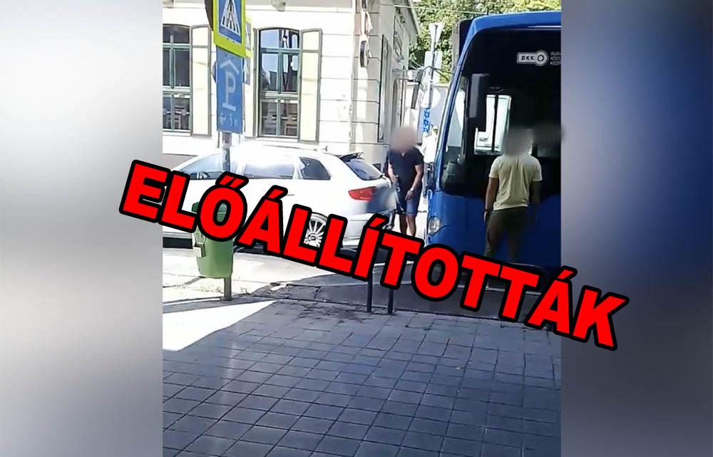 Előállították a buszt megállásra kényszerítő autóst és társát