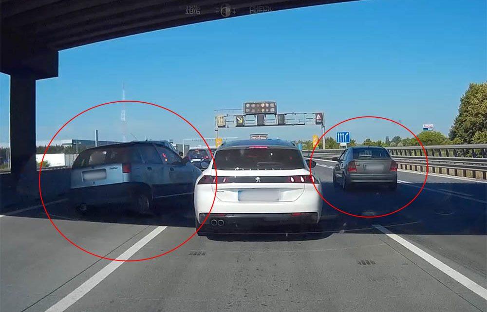 VIDEÓ: Nem tudott megállni az M0-son, ezért elrántotta és egy Opelnek ütközött