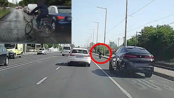 VIDEÓ: A soroksári úti rém, az M0-son tolató szerencsétlen és a szerencsés bringás