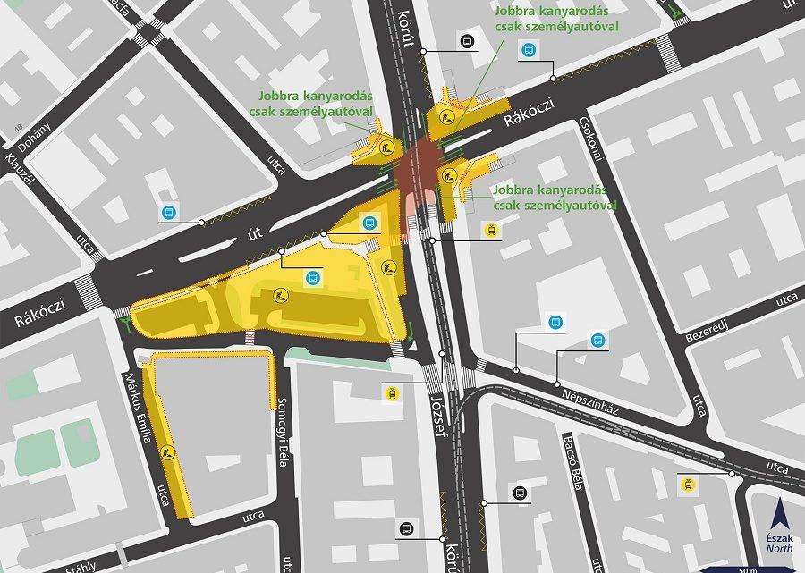 Hétfőn megkezdődik a Blaha Lujza tér felújítása, komoly forgalomkorlátozásra készüljetek