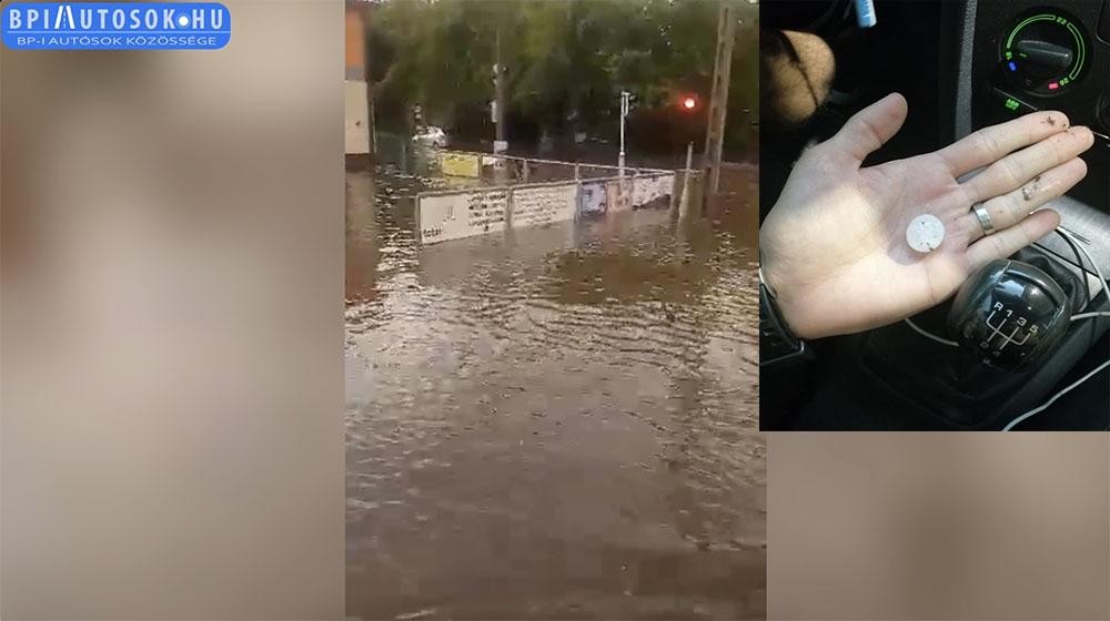 VIDEÓ: Budapestet is elöntötte a víz, elverte a jég. Sok helyen csapdába kerültek a közlekedők