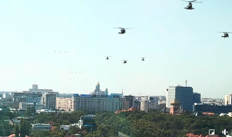 VIDEÓ: Kényszerleszállást hajtott végre egy katonai helikopter Bukarest belvárosában