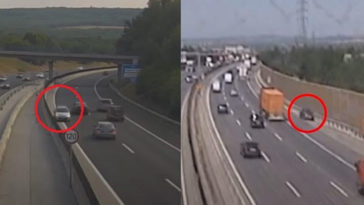VIDEÓ: Két autós is szembement a forgalommal az elmúlt napokban – Egyikük az M0-s középső sávjában fordult meg