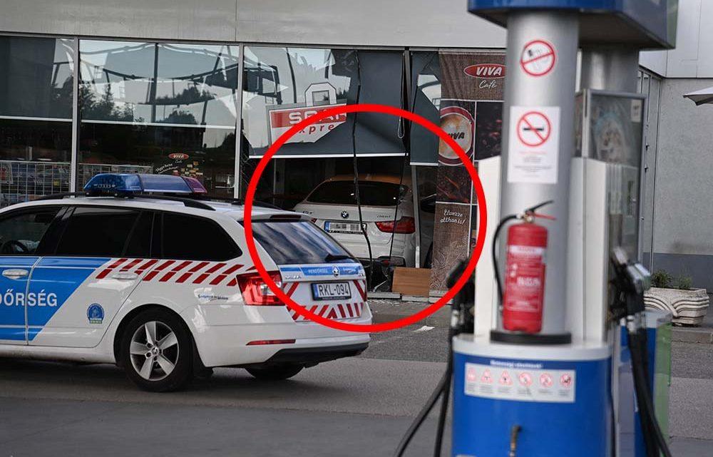 Látványosan érkezett a benzinkútra egy autós a 11. kerületben