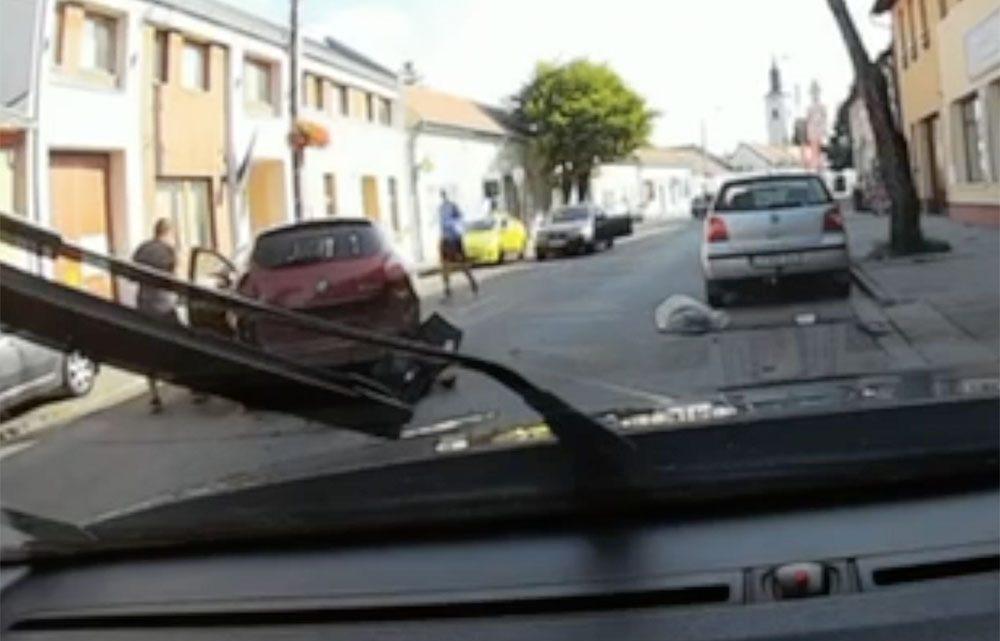 VIDEÓ: Ment a kamera a Volvóban, amibe belecsapódott tegnap a Fiat