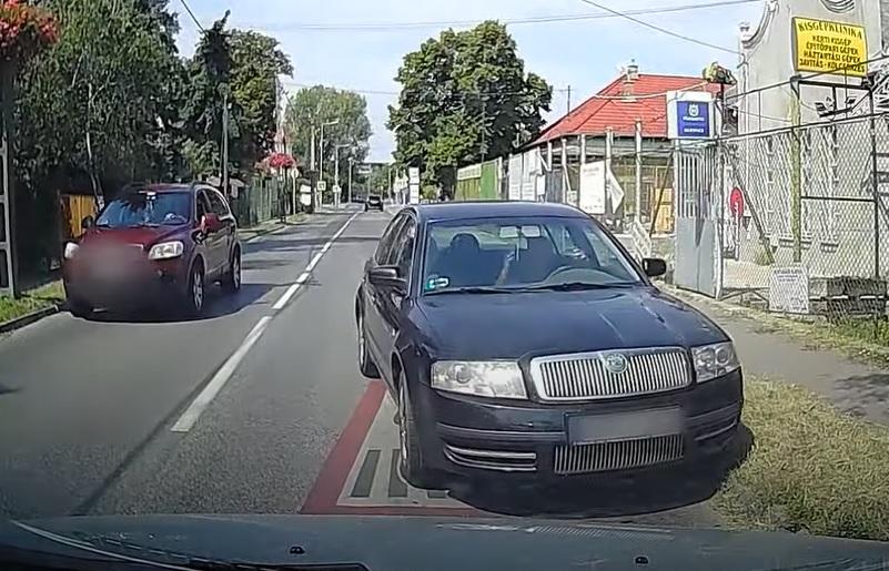 VIDEÓ: Ember!! Nem látod, hogy szabálytalanul akarok előzni?