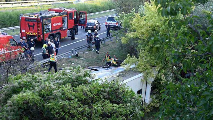 M7-es buszbaleset: Nyolcan meghaltak, 8-an súlyosan és 40-en könnyebben megsérültek