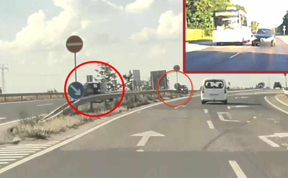 VIDEÓ: Két sofőr, aki nem bírt magával és mindenáron előzésbe kezdett