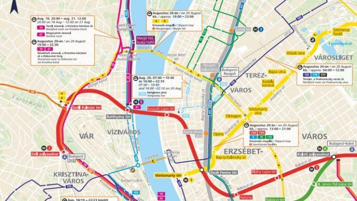 Sok-sok lezárás! Így változik a közlekedési rend az augusztus 20-i ünnepség miatt