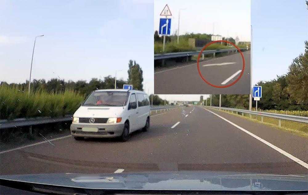 VIDEÓ: Kb. 8-10 kocsi jött még olvasónk mögött. Semmi nem zavarta meg a szembe hajtó sofőrt
