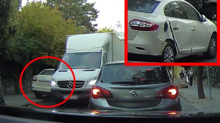VIDEÓ: Lezúzott egy autót, majd magyarázta az igazát és elhajtott