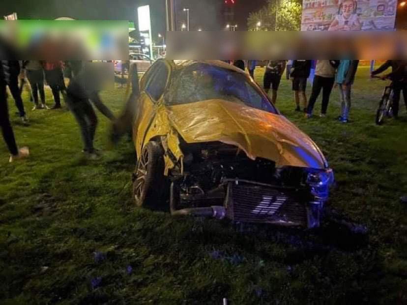240-nel ért a kaposvári körforgalomba, már nem tudott megállni