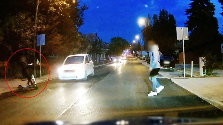 Videón, ahogy egy rollerest elüt az autó Pilisvörösváron